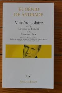 Matière solaire, Eugénio de Andrade