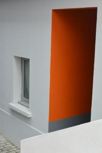 Orange sur fond blanc