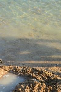 Avec du sable mouillé